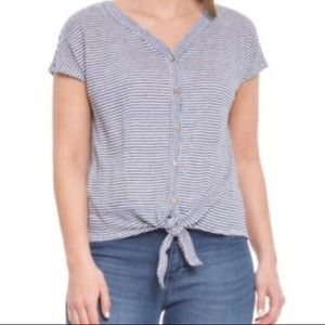 Rachel Zoe Linen Button Down Top
